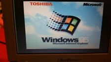 Toshiba Libretto 100CT vintage mini laptop PC Pentium MMX 32 MB RAM Windows 95