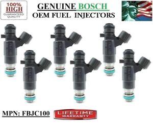Set/6 Fuel Injectors OEM Bosch for 01-04 Nissan & Infiniti 3-3.5L V6