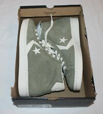 NEW $85 Converse Pro Mid Leather Suede OLIVE GREEN Sz 9 Sneakers Shoes Euro 42.5