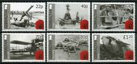 Gibraltar 2015 MNH WWI WW1 World War I Part II 6v Set First Ships Tanks Stamps