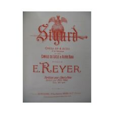 REYER E. Sigurd Opéra Piano Chant 1895 partition sheet music score