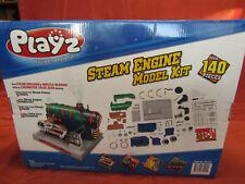 PLAYZ Train Steam Engine Model Kit Build Kids Real Steam Science Kits 39107 NEW