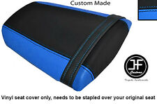 LIGHT BLUE & BLACK VINYL CUSTOM FITS HONDA CBR 600 RR 07-12 REAR SEAT COVER ONLY