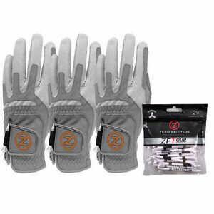 Zero Friction Men's Copper Flex Golf Gloves, 3 Pack - GRAY (Right Handed)