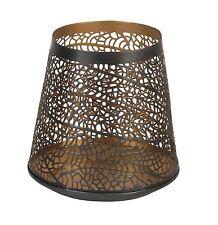 Hestia Metal Tealight Holder Antique Gold Effect Filigree Design