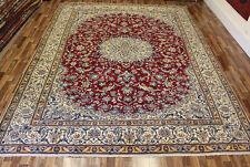 FINE PERSIAN NAIN CARPET WOOL & SILK, WITH FINE FLORAL DESIGN 390 X 295 CM