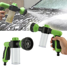 Adjustable 8 in1 Spray Pattern Water Gun&Soap Dispenser Hose Nozzle Car Wash GN