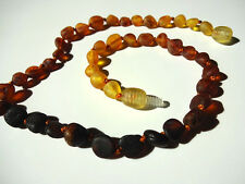 Natural Rainbow Raw BALTIC AMBER BABY NECKLACE