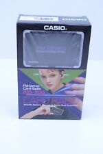 NOS Vintage Sealed 1980s Casio RD-100 Portable Pocket Stereo Card Radio FM Japan
