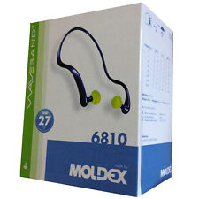 8 x MOLDEX 6810 WAVEBAND BANDED EARPLUGS- EAR DEFENDER 27db -FREE DELIVERY