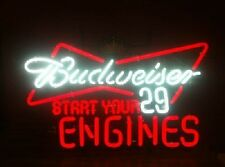 """New Budweiser Start Your Engine Nascar #29 Neon Sign 24""""x20"""" Ship From Usa"""