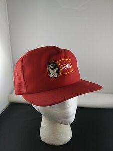 Vintage BEMIS Cardinal Custom Cap mesh trucker snapback hat cap Farming Cat *X
