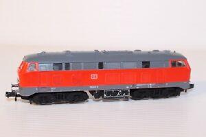 N Gauge Fleischmann DB BR218 Red/Grey