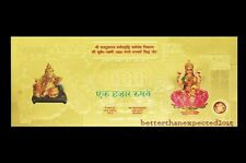 Kuber Lakshmi Gold Foil Currency Note RS 1000 For Enhancement Of Wealth Gift