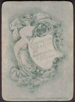 Playing Cards Single Card Old Antique Wide ELKINGTON GOLDSMITHS Advertising GIRL