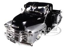 1951 CHEVROLET LOWRIDER PICKUP TRUCK BLACK & SILVER 1/24 DIECAST CAR JADA 99035
