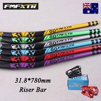FMFXTR 780mm Extra Long MTB/XC/DH Bike Riser Bar 31.8mm Light Weight Handlebar