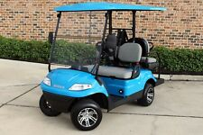 New 2020 Blue / Gray Advanced EV 48V Electric Golf Cart 4 Passenger