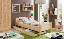 Einzelbett 90x200 cm Einzelbett Holzbett Massivholzbett Landhaus Bett natur