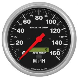"Auto Meter 3989 5"" Sport-Comp Electric Speedometer; 0-160 MPH NEW"