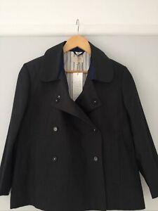 Toast Charcoal Grey Cotton / Linen Short Jacket Size 12 / M