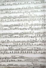 2 x A4 White Music Manuscript Patterned Vellum NEW
