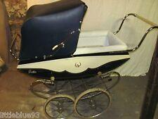 Antique 1960's BILT-RITE PARK AVE Baby Carriage Wood Finish Excellent Condition