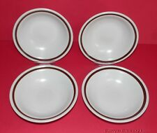 COUNTRY LIVING Collection * 4 Stoneware Dessert Dishes * Autumn Gold Design *
