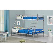 Hochbett Jugendbett Doppelstockbett Kinderbett Etagenbett Kinder Silber ArtLife®