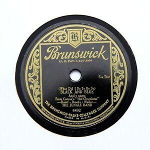 "THE JUNGLE BAND ( Ellington) ""Black And Blue"" 1929 (E) BRUNSWICK 4492 [78 RPM]"