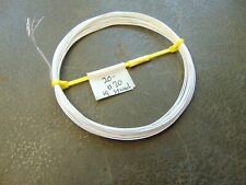 20 feet stranded 30 AWG Silver Plated Copper PTFE Wire White SPC 19 strand