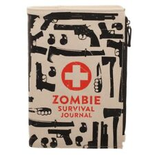ZOMBIE SURVIVAL CANVAS NOTEBOOK NOTEPAD TRAVEL WALLET JOURNAL DIARY ZIPPER POUCH