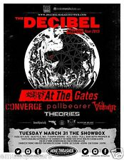 "At The Gates/Converge ""Decibel Tour 2015"" Concert Poster For Seattle or Portland"