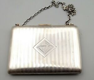 Antique Sterling Silver William Kerr Coin Change Purse Wallet Clutch Victorian