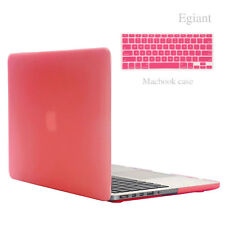 """Rubberized PINK Hard Case Keyboard Cover for Apple Macbook PRO 15"""" Retina A1398"""
