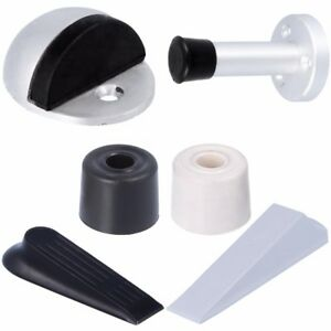 RUBBER DOOR STOP Black/White/Silver Long Wedge Buffer Stopper Jammer Jam Stopper