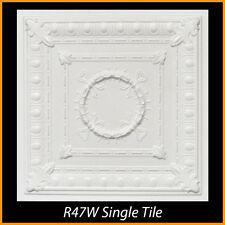Ceiling Tiles Glue Up Styrofoam 20x20 R47 White Pack of 8