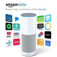 2 Pack Amazon Echo Smart Speaker with Alexa Bluetooth WiFi 1st Generation White