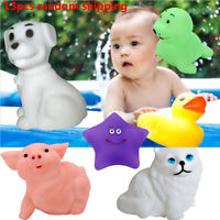 13PCS Baby Bath Toys Squeaky Rubber Animal Floating Water Children Kids Toy GA