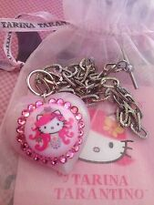 Collana Tarina Tarantino Hello Kitty pink Head Necklace CUORE ROSA Swarovski