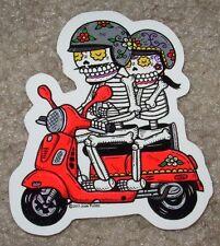 VESPA SCOOTER couple MUERTO Art Sticker Print DIA DE LOS JOSE PULIDO