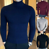 Men'S Lightweight Cable Slim Sweater Knitted Winter Turtleneck Pullover Fit Knit