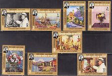 ADEN / Seiyun 1966 Art Paintings W. Churchill set 8 MNH** Mi: 91/98 20,00 Eur.