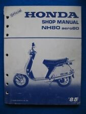 Honda 1985 NH80 Aero 80 Original Factory Shop Service Repair Manual  P363