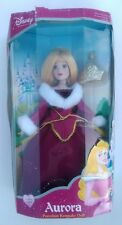 Disney Princess Aurora Porcelain Keepsake Doll (Holiday Edition) Brass Key