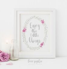 Inspirational Quote Illustration Print Gallery Wall Art Poster Typography Decor