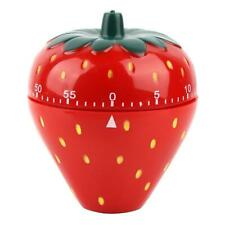 Kitchen Cooking Strawberry Shaped Timer Countdown 60 Minutes Alarm Mechanical