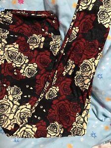 Lularoe Disney Nightmare Before Christmas NBC Roses Jack One Size Legging