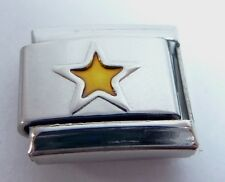 GOLD STAR Italian Charm - Stars Night Sky Space 9mm fits Classic Bracelets E126