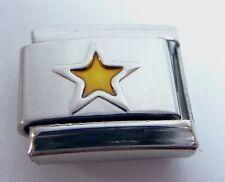 GOLD STAR Italian Charm - Stars Night Sky Space 9mm fits Classic Bracelets E126